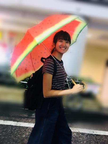 【Berryz工房】【画像】スイカの傘を差す徳永千奈美がとっても可愛い