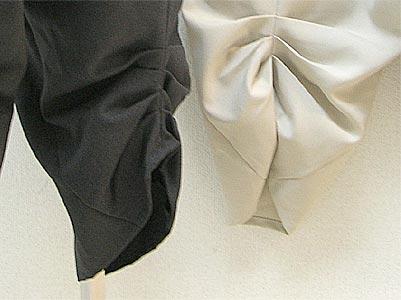 後ろ裾タックパンツ