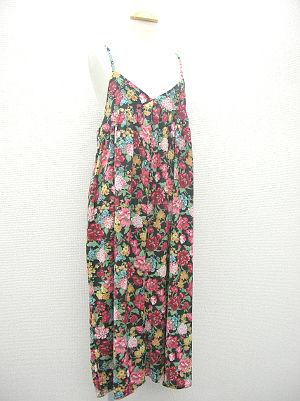 リアル花柄キャミサロペット