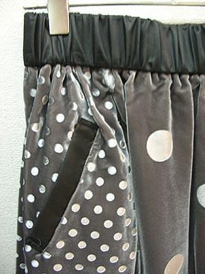 水玉ベロアバルーンスカート