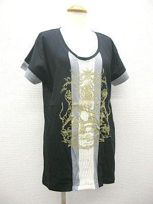 ライン+エンブレム半袖Tシャツ
