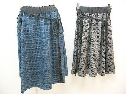 ビット柄タッセルスカート