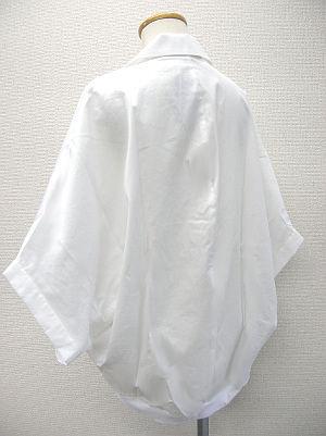 リボンギャザードルマンシャツ