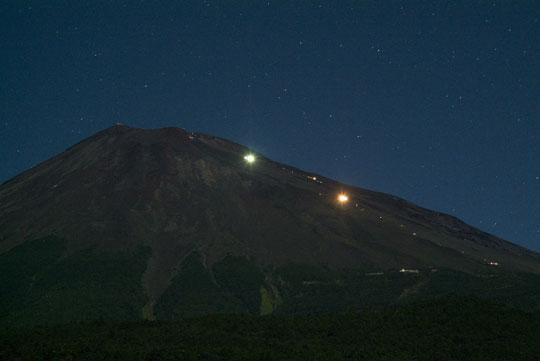 月夜の夏富士