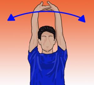 肩甲骨背伸びストレッチ
