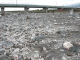地学散歩・関川  経験者、初心者入り混じっての鉱石採集