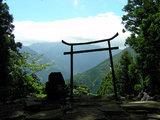 横峰寺 星が森から霊峰石鎚山を望む