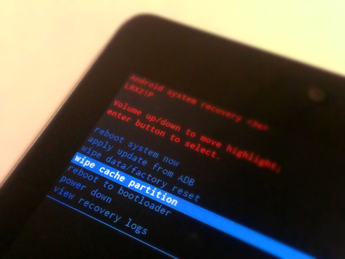 Nexus7(2012)Recovery Mode Wipe Cache Partition