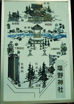 塩野神社境内図
