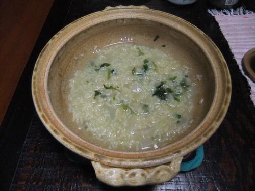 土鍋の七草粥