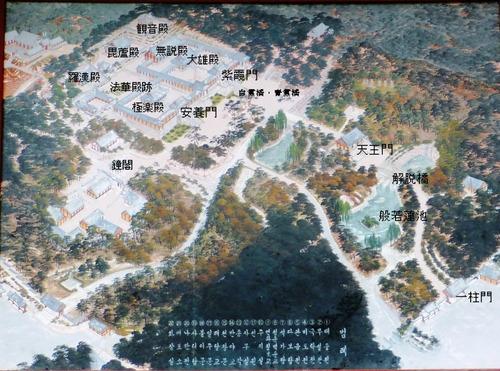 仏国寺建造物配置図