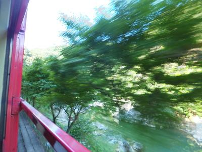 風も木々も川もあっという間に流れてゆきます