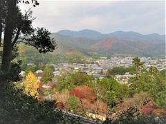 二尊院・時雨亭跡から嵯峨野の紅葉を俯瞰