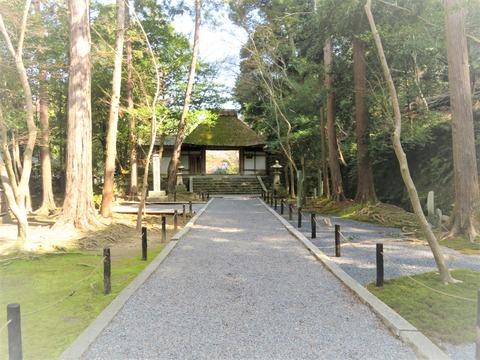 ⓪法然院の茅葺の山門