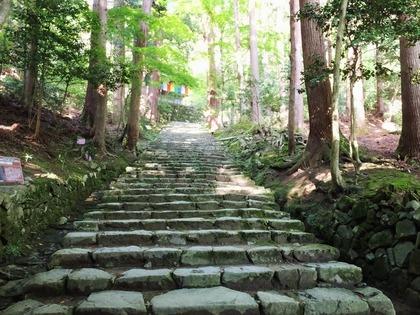 32・仁王門からまっすぐ石段を昇ると本堂の石垣