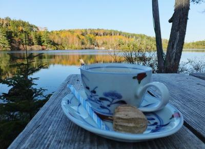 7・白駒荘のコーヒーをいただきました