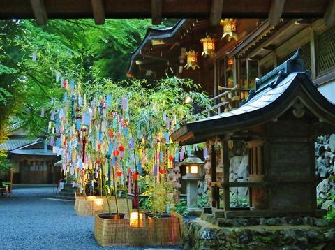 貴船神社笹飾り