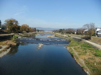 賀茂川葵橋から北を