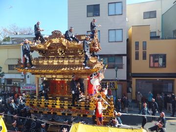 1・ジョナサンから下郷笠鉾の曳行を見る