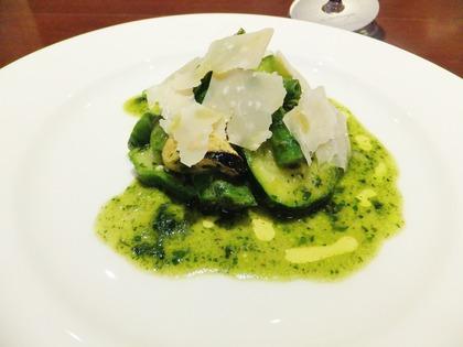 ムール貝のフレッシュバジルマリネ・夏野菜と