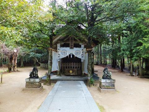 真名井神社拝殿と狛犬