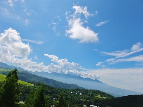 0001・ビーナスラインから八ヶ岳を眺望