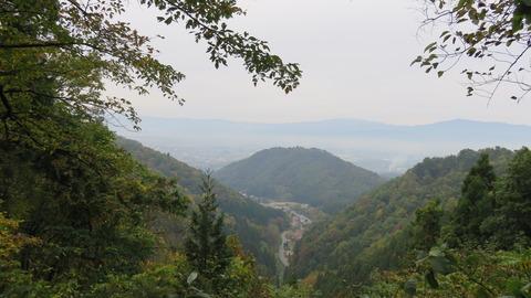 若松寺から月山を拝す