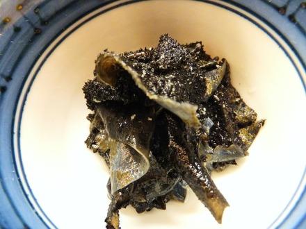天下の珍味、岩茸(いわたけ)です
