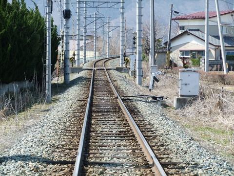 長野電鉄線路