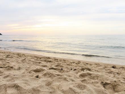 薄暮の琴ケ浜