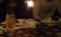 誕生日の花火