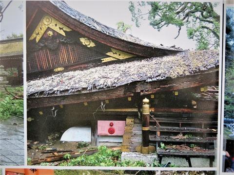 �平野神社拝殿の倒壊