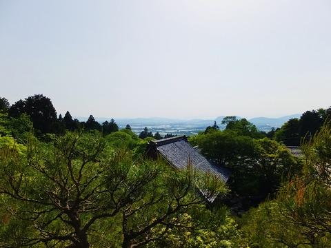 27・喜見院展望台から湖東平野を望む
