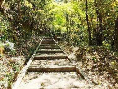 整備された吉備の中山遊歩道