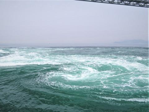 �干潮時最速時の大渦潮