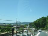 京都の街並が見えてきた