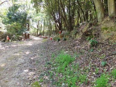 八徳寺から古墳公園への道