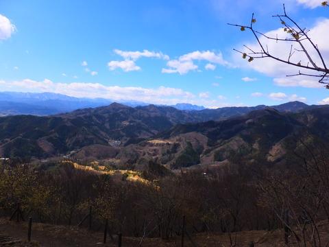 6・宝登山山頂から両神山を見る