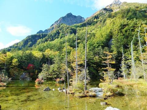 二の池と明神岳