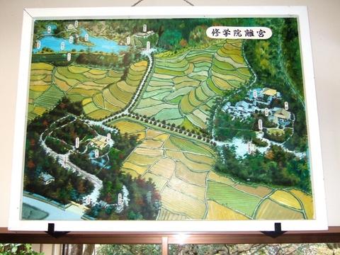 修学院離宮地図