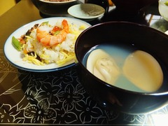 ちらし寿司と蛤のお吸い物