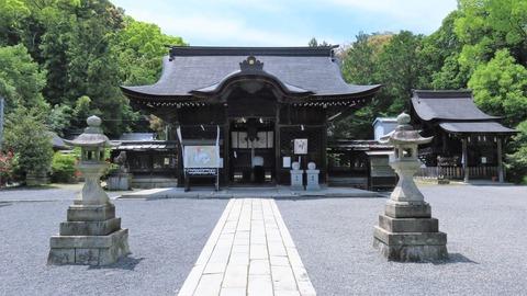 19・園城寺内、三尾神社拝殿