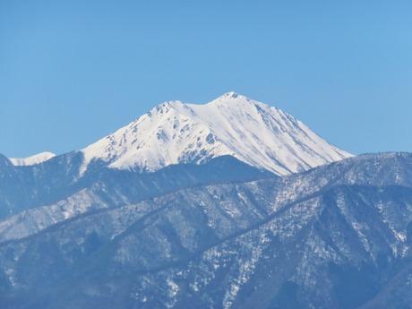 9・冠雪の常念岳