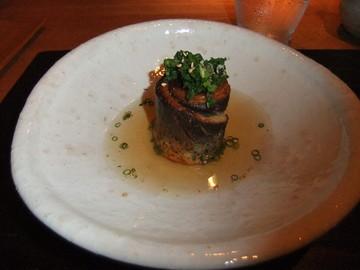 秋刀魚の梅巻き