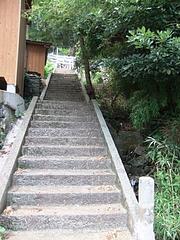 能理刀神社へこの石段を昇る