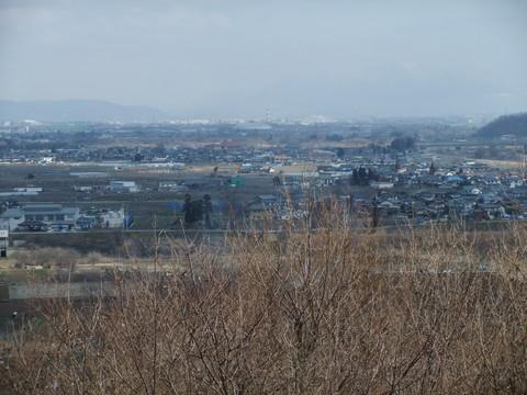 八幡原の激戦地を展望