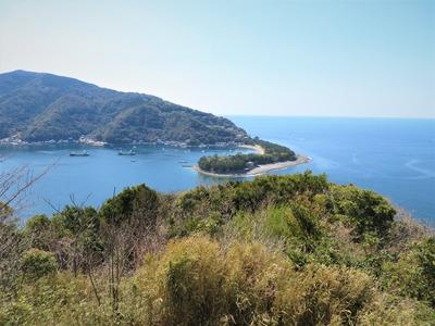 出逢い岬から御浜岬と戸田湾を見下ろす