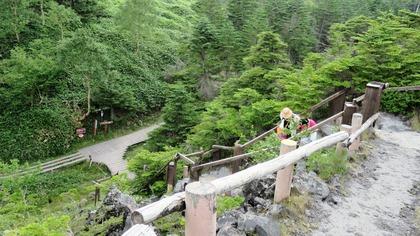 17・溶岩台地から階段で下の木道に出ます