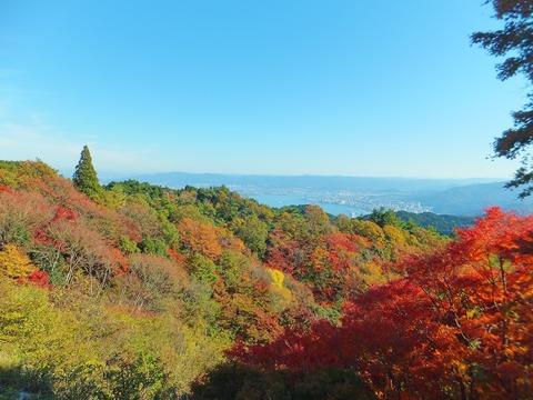 展望台より琵琶湖を望む