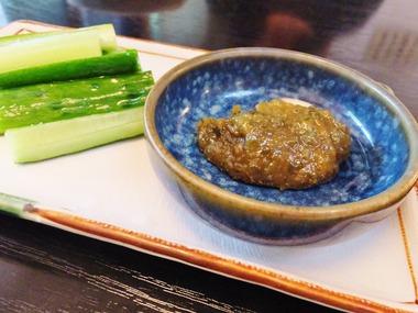 4・胡瓜と山椒味噌